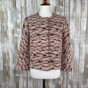 Carlisle Pink Black Tweed Textured Jacket Sz 10